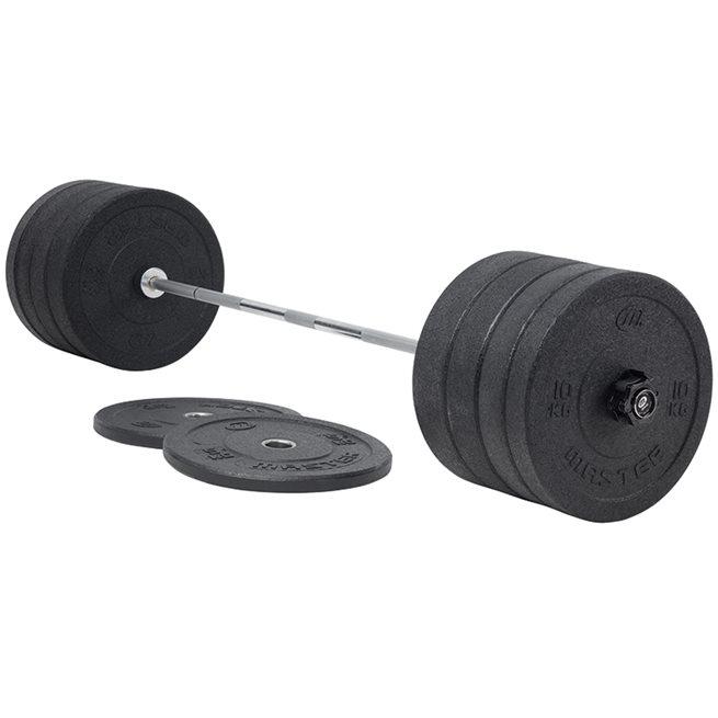 Master Fitness Hi Impact Bumper 170 kg, Skivstångset