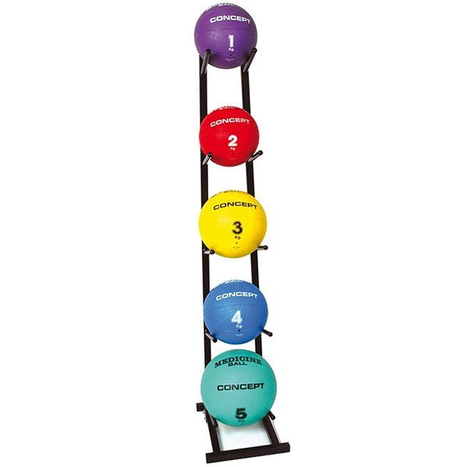 Medicinbollställ för 5 bollar