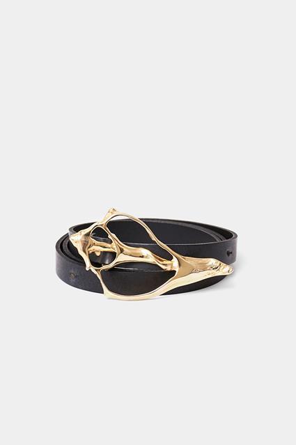 Shell Leather Belt