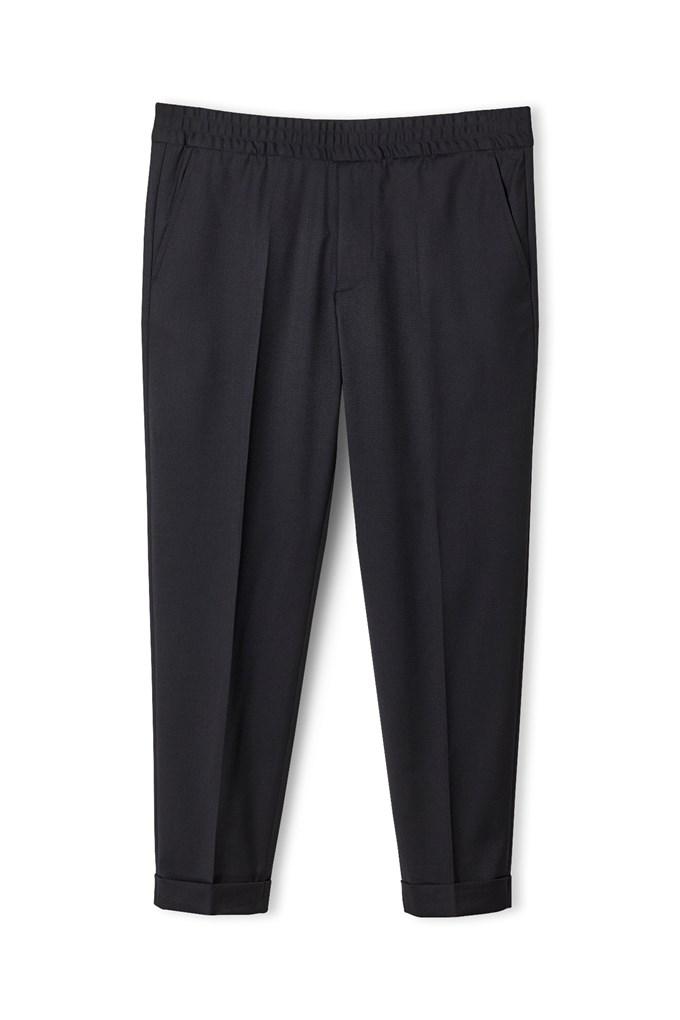 Terry Gabardine Cropped Trouser