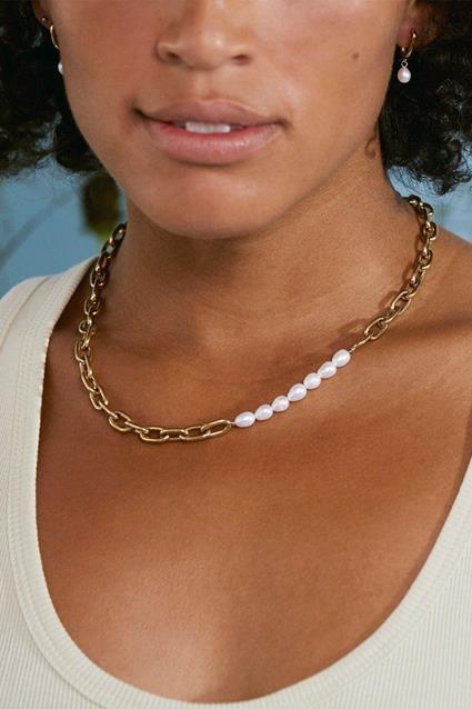 Trellis Pearl Necklace