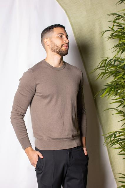 Cotton Merino Basic Sweater