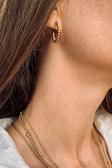 Bead Hoop Earring