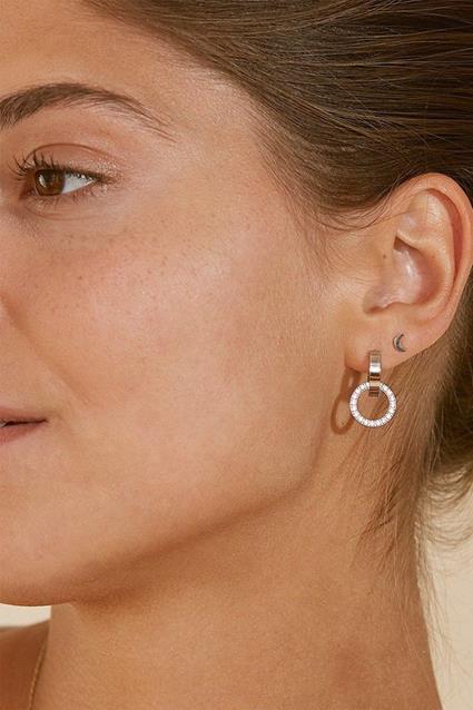 Eternal orbit earrings steel