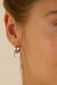 Eternal orbit earrings gold