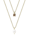 Ice Pearl Duo Necklace