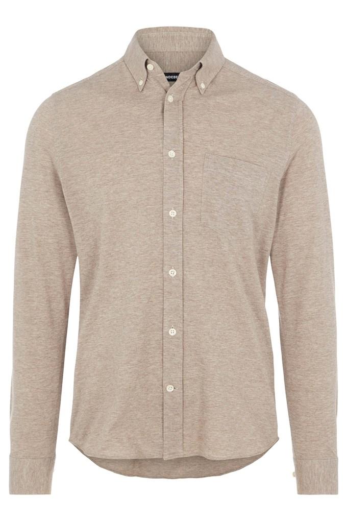 Jersey Structure Slim Shirt