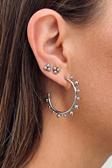 Bead Multi Hoop Earring