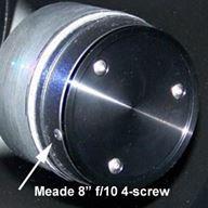 Kollimeringsskruvar till Schmidt Cassegrain teleskop