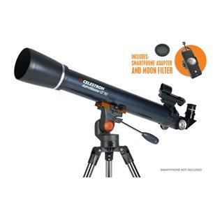 AstroMaster LT 70AZ refraktor med smartphoneadapter & månfilter