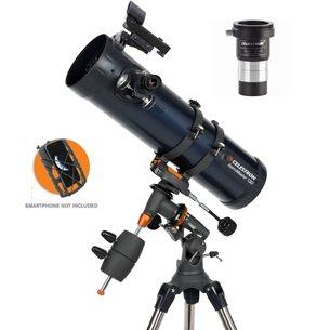 AstroMaster 130EQ spegelteleskop med smartphone adapter & kameraadapter