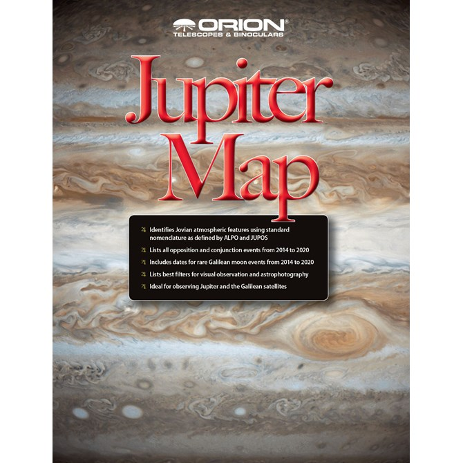 Jupiter Map & Observing Guide