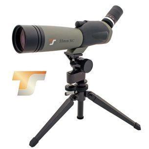 TS-Optics tubkikare 18-54x55 vinklad inklusive bordsstativ