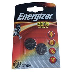 Energizer Batteri CR2016 Lithium 3V 2 Pack