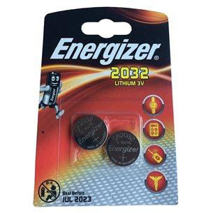 Energizer Batteri CR2032 Lithium 3V 2 Pack