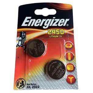 Energizer Batteri CR2450 Lithium 3V 2 Pack