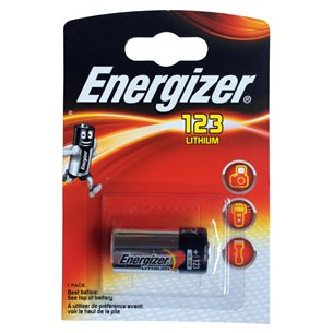 Energizer Batteri CR123A Lithium 3V 1 Pack