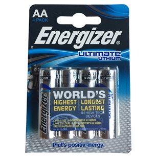 Energizer Batteri AA Lithium 1,5V 4 Pack