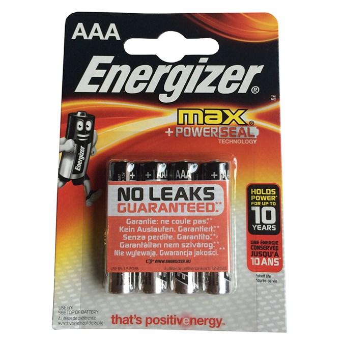 Energizer Batteri AAA Alkaliska 1,5V 4 Pack