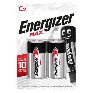Energizer Batteri C Alkaliska 1,5V 2 Pack