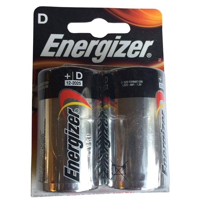 Batteri D eller LR20, Alkaliska, 1,5V, 2-pack