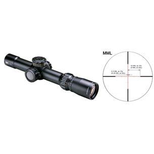 March Tactical 1-10x24 SFP MRAD belyst