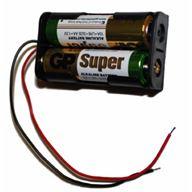 Batterihållare - 2x AA