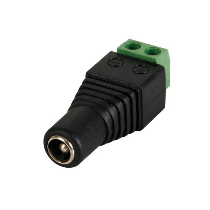 DC adapter plugg-skruvsockel