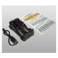 ArmyTek Paket C2 PRO Laddare + 2st Batteri 3500mAh