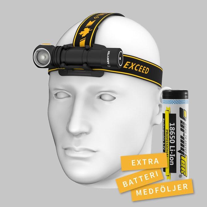 ArmyTek Wizard NEW V4 C2 Pro Paket med extra batteri