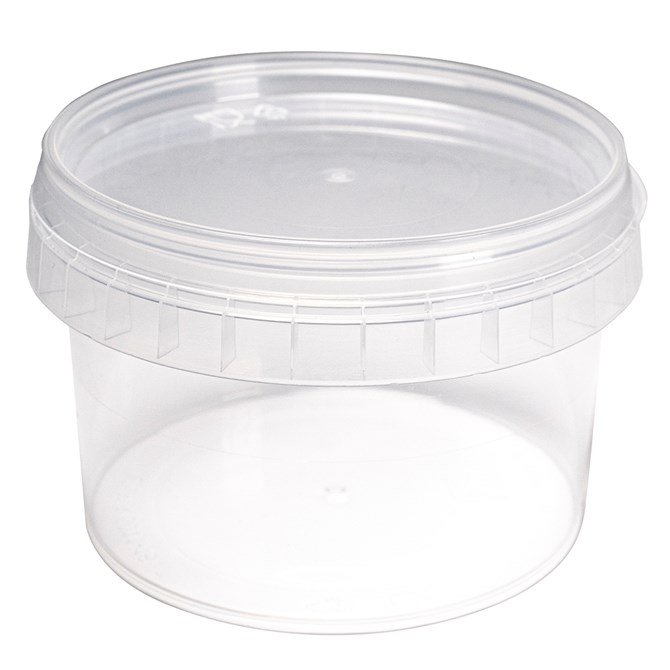 Plastburk transparent - 10 st, 280 ml