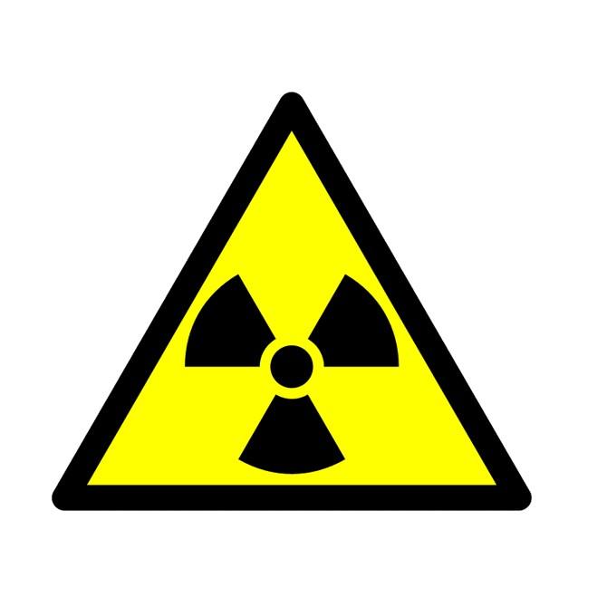 Etikett radioaktiv strålning