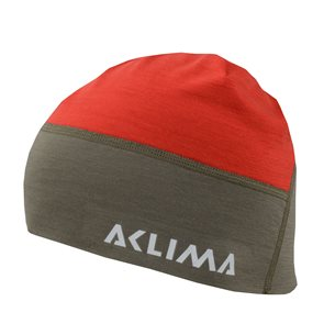 Aclima LightWool Hunting Beanie High Risk Red/Ranger Green
