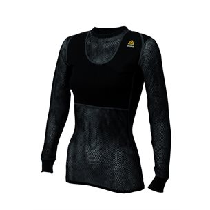 Aclima WoolNet Crew Neck Shirt Woman Jet Black