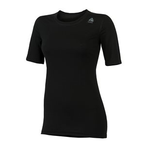 Aclima LightWool T-shirt Classic Woman Jet Black