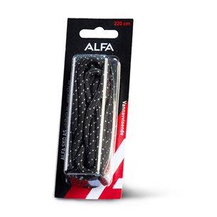 Alfa Skosnören Black/Grey