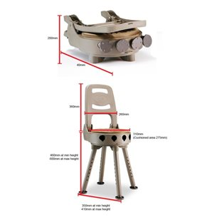 Bergara hopfällbar- snurrbar stol