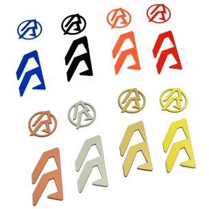 DA Alpha-X logo color inserts, left hand
