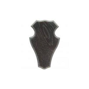 Trofésköld nr 1 rådjur mörk ek 22 x 13cm