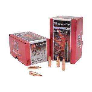 Hornady 30 Cal ELD Match 155gr Kulor 100 st