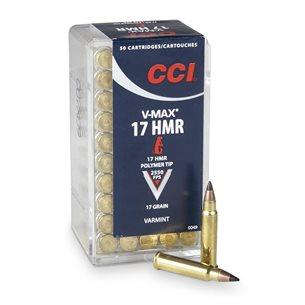 CCI 17 HMR V-Max 17gr Poly-Tip, 50st/ask
