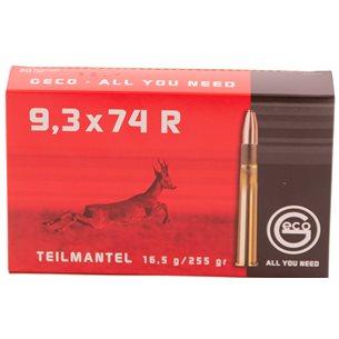 Geco 9,3x74 R 16,5g/255gr, 20st/ask