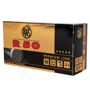 RWS R50 22lr 2,6g/40gr, 50st/ask