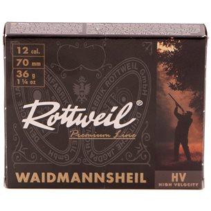 Rottweil Waidmanns Plast 12/70 36g US 1, 10st/ask