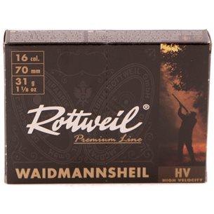 Rottweil Waidmanns Plast 16/70 31g US 5, 10st/ask