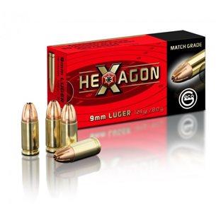 Geco 9mm Luger Hexagon 8g/124gr, 50st/ask