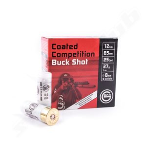 Geco Coated Competition 12/65 27g 8 mm buckshot 9 hagel, 25st/ask