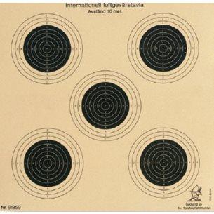 Måltavla luftgevär 5-prick