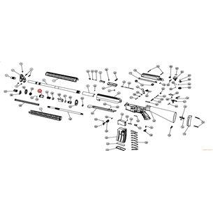 Eksen/Husan Arms Gas regulator nut (spring and taw mounted)