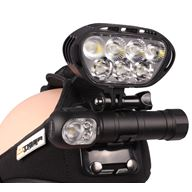 M-Tiger Sports SEAL Multilampa 1200 Lumen Vit/Röd/Grön LED
